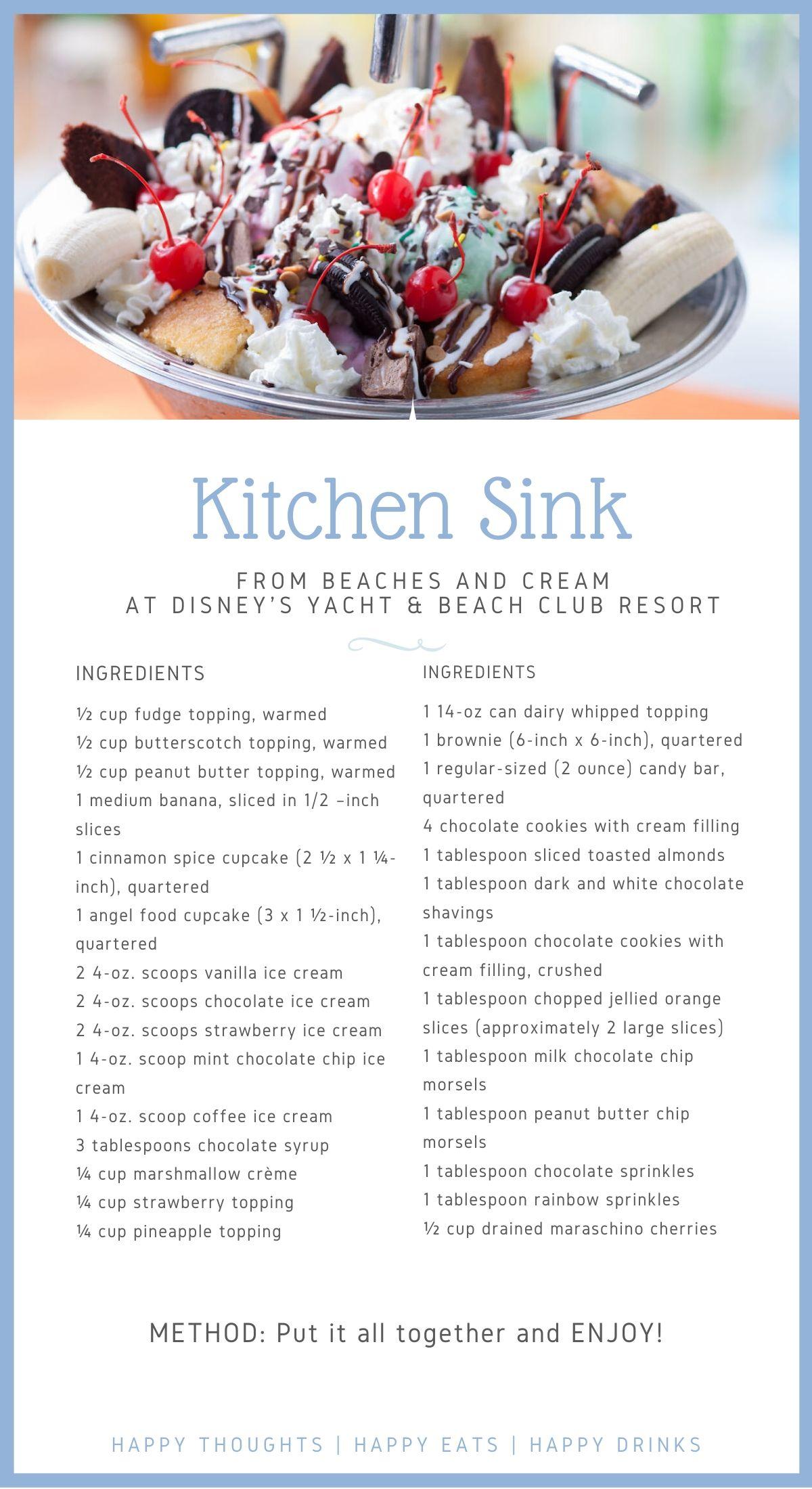 Yacht And Beach Club Kitchen Sink